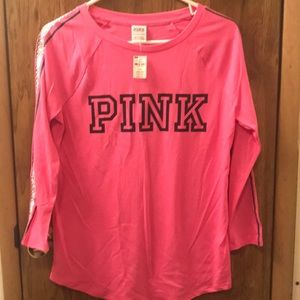 BNWT PINK 3/4 Length Sleeve Shirt